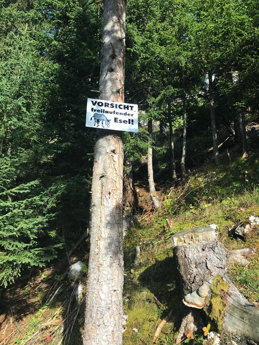 Das Schild lügt nicht ...